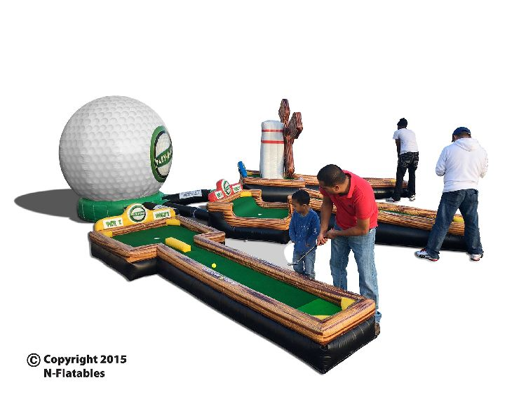 3 Hole Inflatable Mini Golf