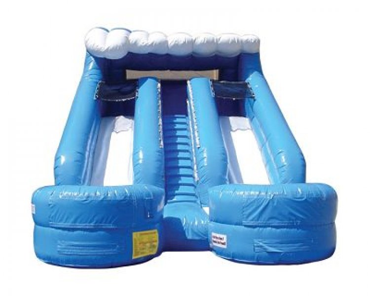 15' Double Splash Water Slide