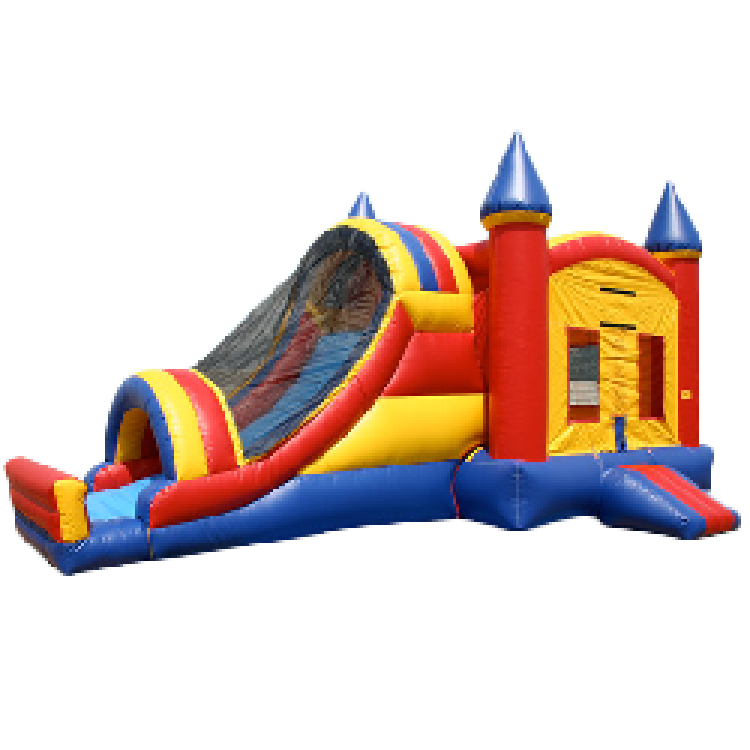 Castle Bounce Water Combo with Side Slide - Wet