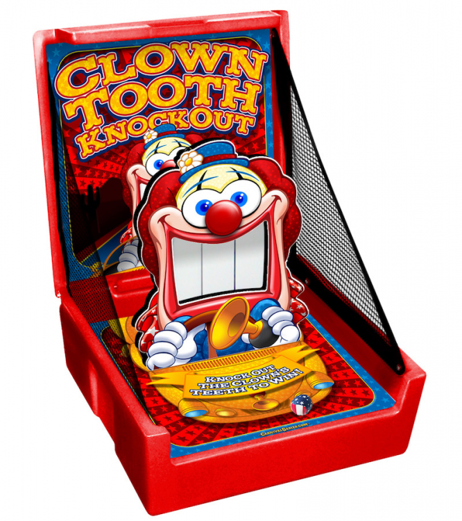 Clown Tooth Knock Down Carnival Game