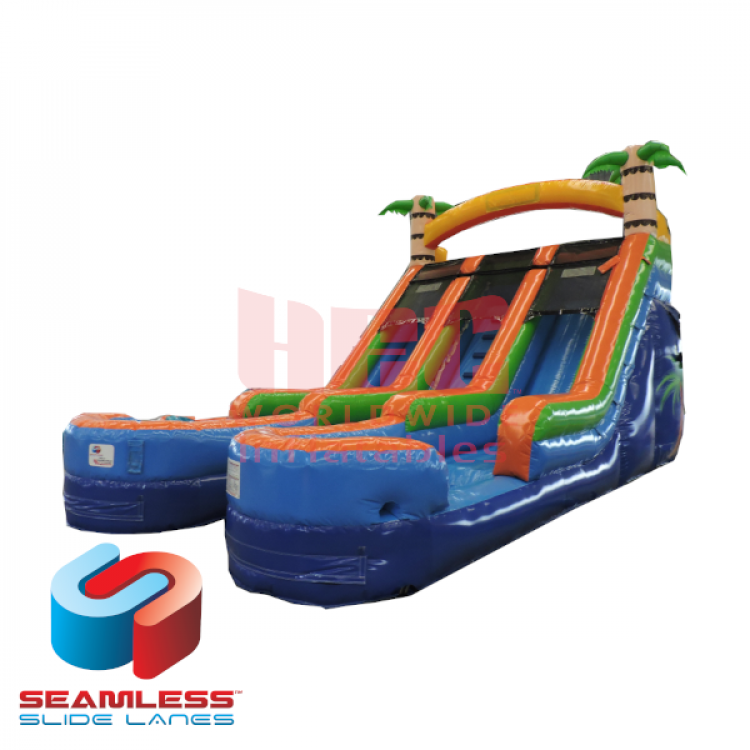 15ft Tropical Splash Double Lane Slide