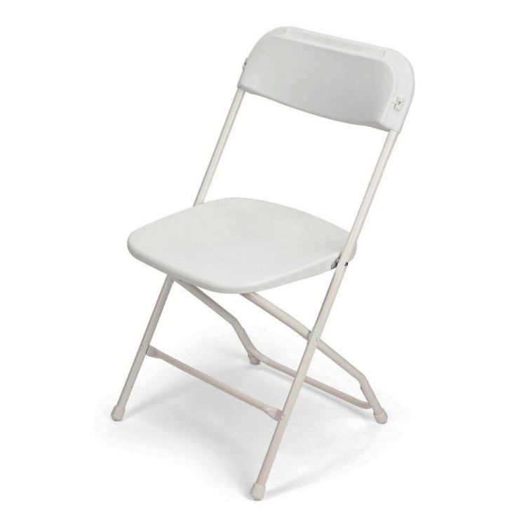 Folding Chair - White Polyfold